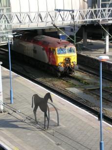 New_Street_Station_Iron_Horse_sculpture_,_Kevin_Atherton