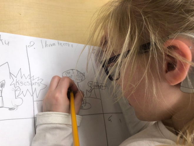 scarlet writes with pencil