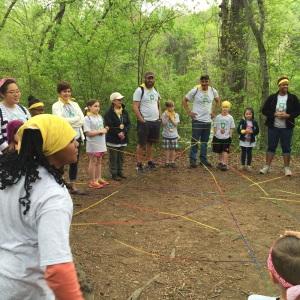 outdoor yarn web
