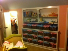 Cubbies in Nursery