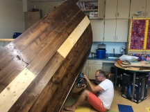 Matt cuts the hull