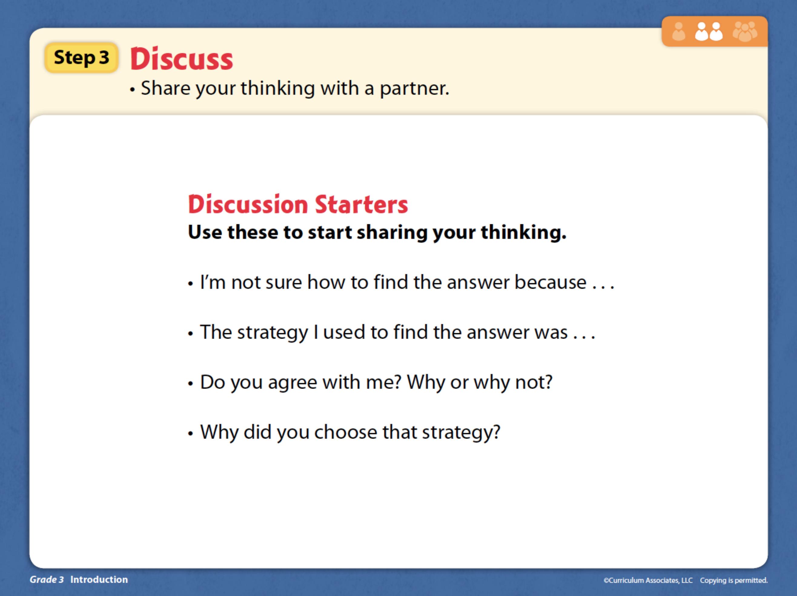 Step 3 Discuss